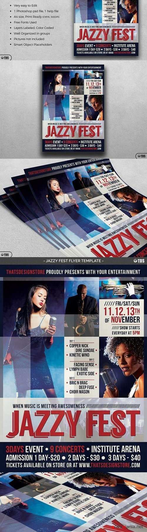 Jazzy Fest Flyer Template 1437120