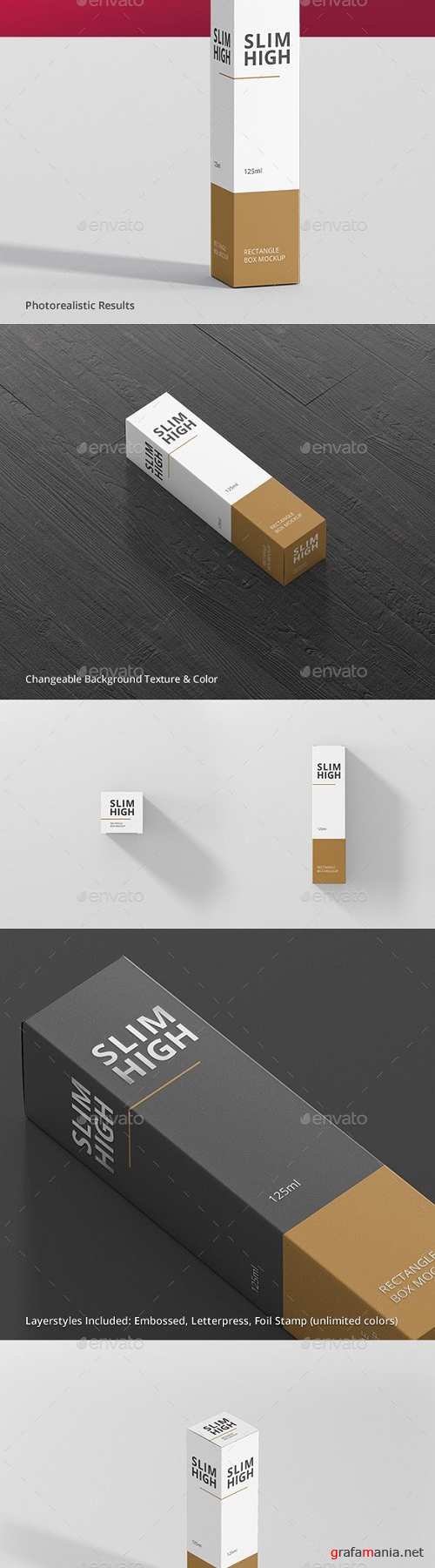Box Mockup - Slim High Rectangle - 19302639