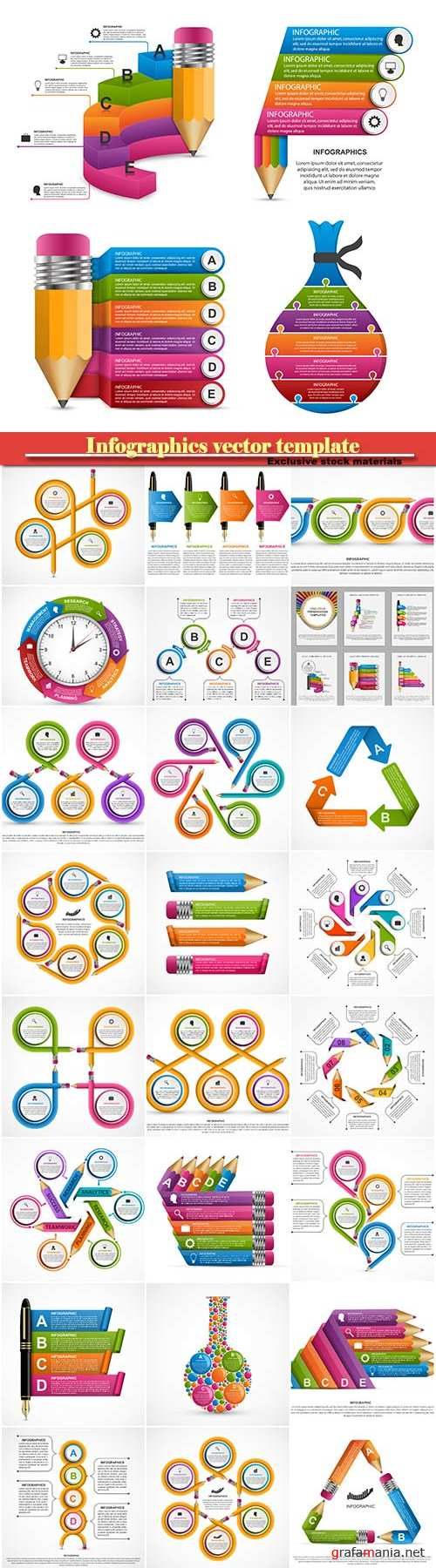 Infographics vector template for business presentations or information banner