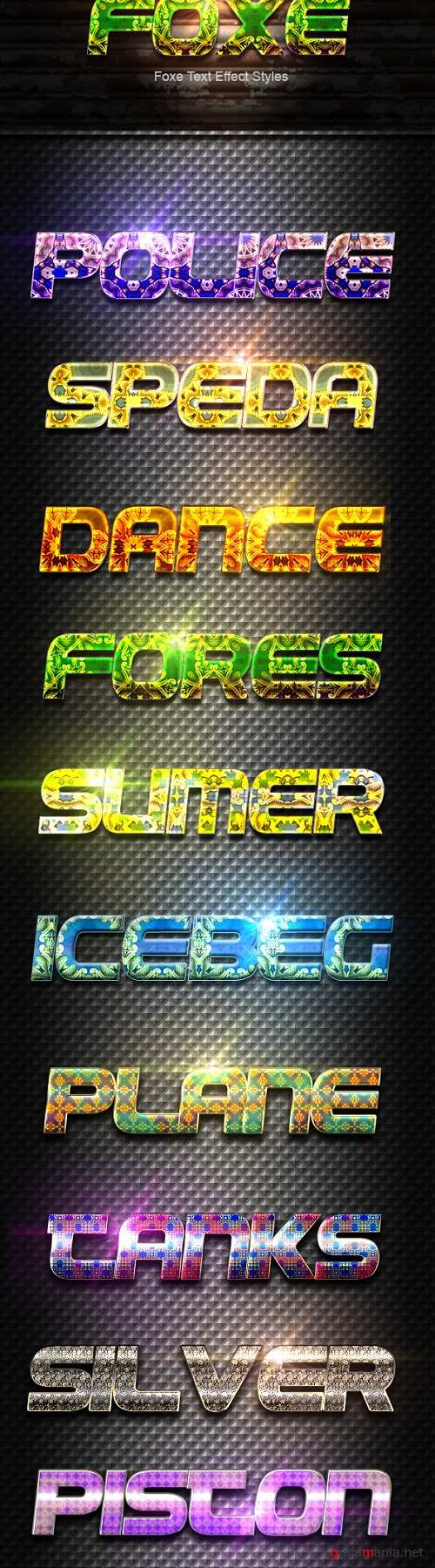 Foxe Text Effect Styles - 19810236