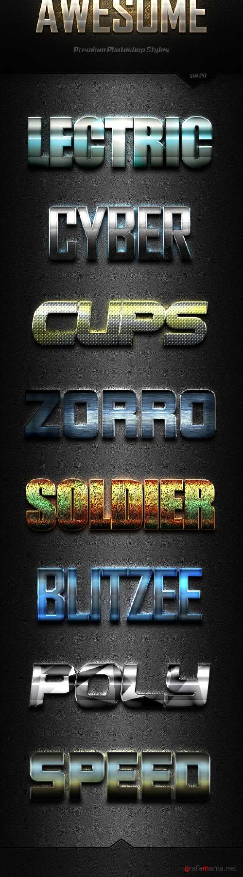 Awesome Photoshop Text Effects Vol.20 - 19158904