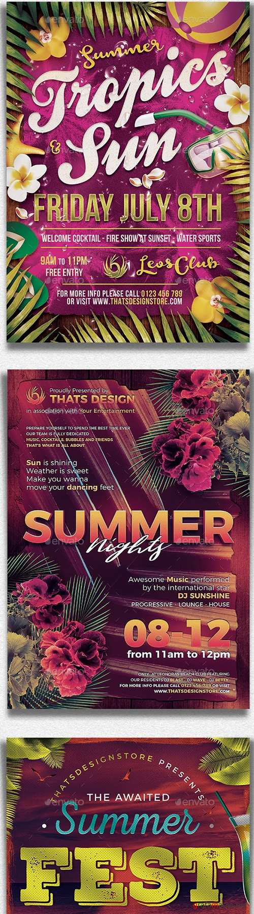 Summer Fun Flyer Bundle - 19900437 - 1479554