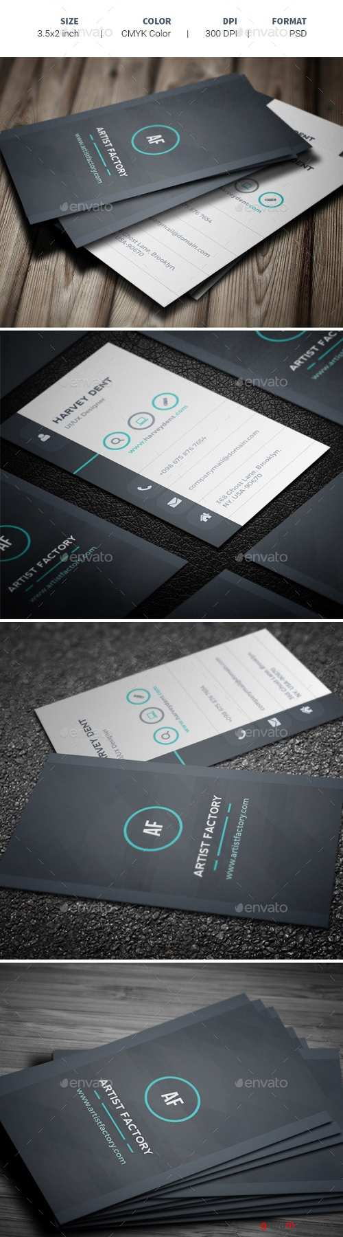 Professional Business Card Template 19975465