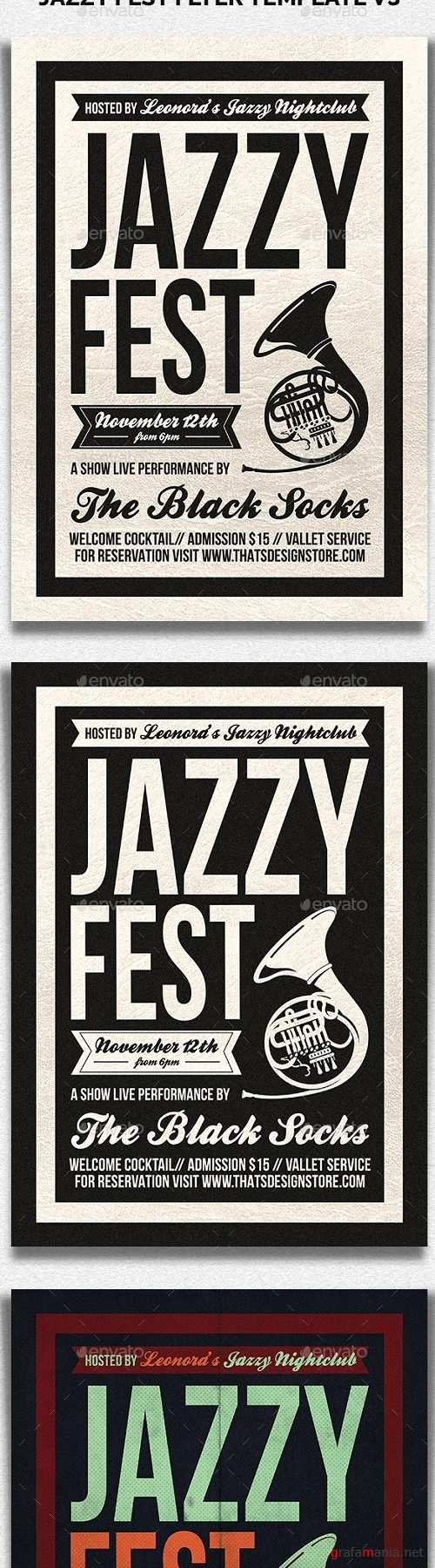 Jazzy Fest Flyer Template V3 - 20032694