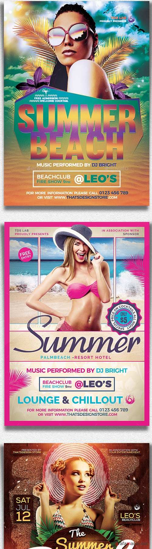 Summer Beach Flyer Bundle - 19888525 - 1474128