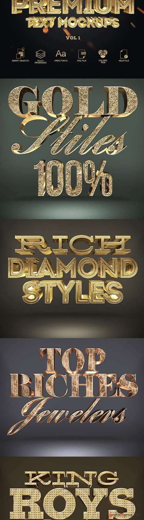 3D Gold Text Styles 20000637