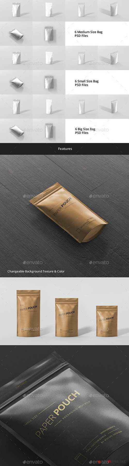 Paper Pouch Bag Mockup Bundle - 19442806