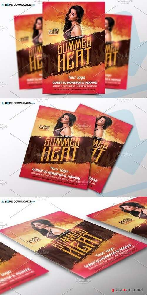 Summer Heat Flyer Template 1472370