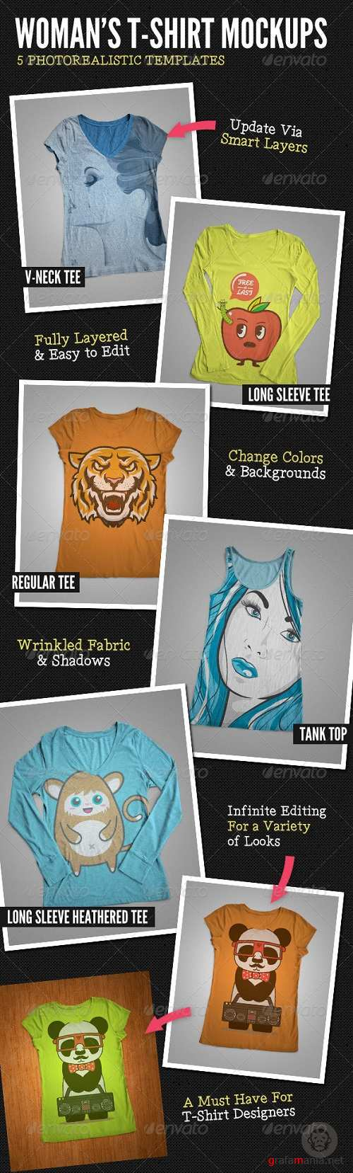 Ladies T-Shirt Mock-Ups - 6112581