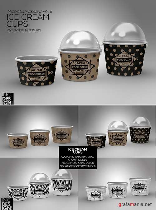 Ice Cream Cups with lids