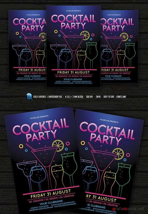 Cocktail Party Flyer 1472212