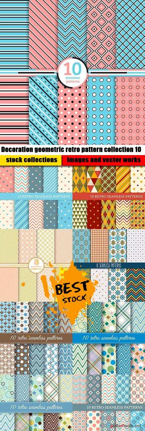 Decoration geometric retro pattern collection 10