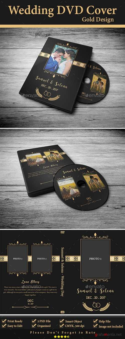 Wedding DVD Cover - Gold Design 20006179