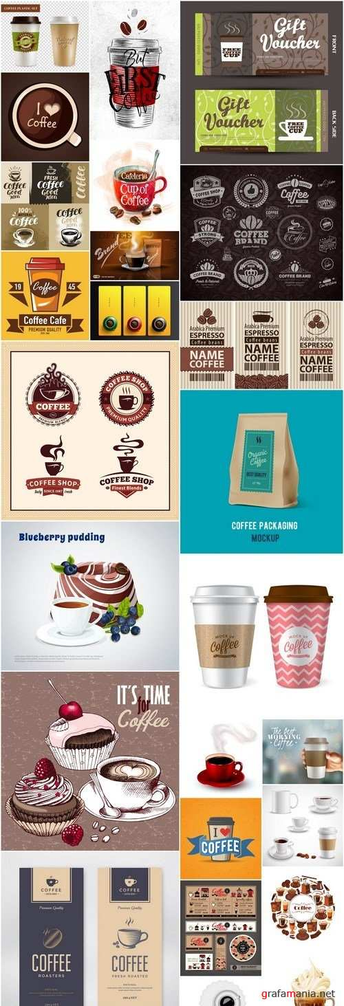 Coffee Design Elements #3 - 25 Vector