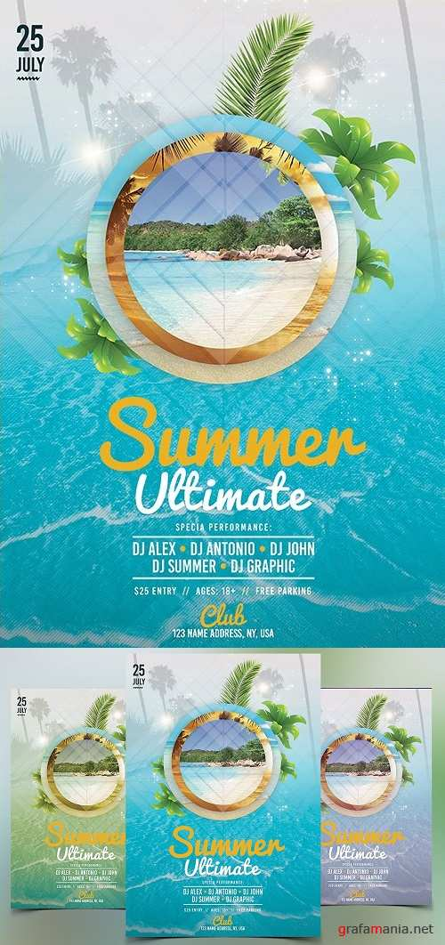 Summer Ultimate - PSD Flyer Template 1570680