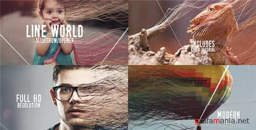 Line World Slideshow - After Effects Project (Videohive)