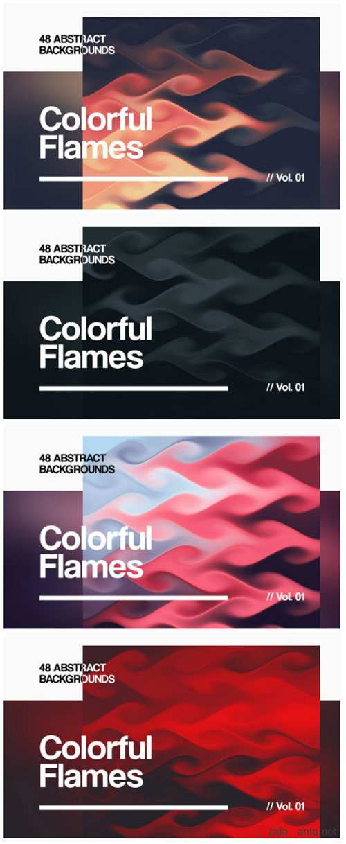 Colorful Flames | Abstract Backgrounds | Vol. 01