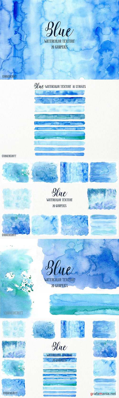 Watercolor Texture Blue
