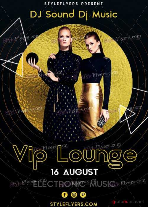 VIP Lounge V31 PSD Flyer Template