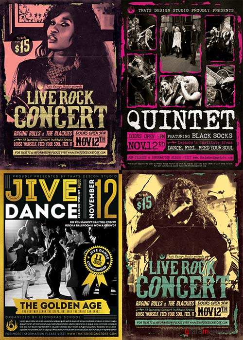 Live Concert Party 3in1 V1 Flyer Template