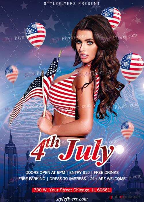 4th Of July V28 PSD Flyer Template