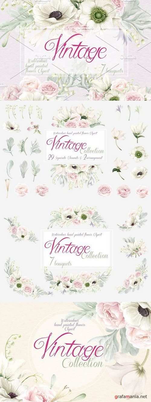 Vintage Collection, Anemones & Roses 1473303