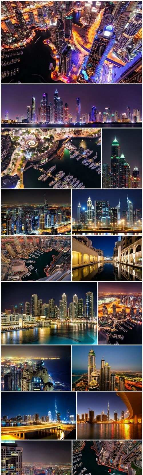 Amazing tallest skyscrapers in Sheikh Zayed, Dubai - 16xUHQ JPEG Photo Stock