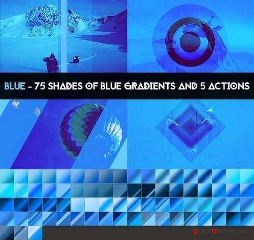BLUE - 75 gradients & 5 actions 1284112