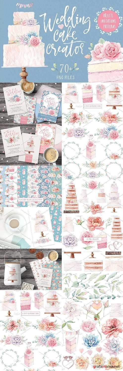WEDDING CAKE CREATOR watercolor set 1490261