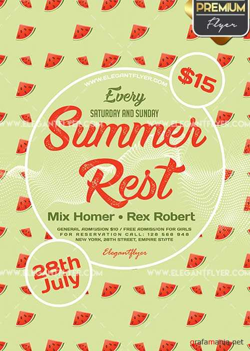 Summer Rest V25 Flyer PSD Template + Facebook Cover