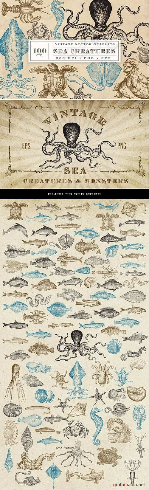 Antique Sea Creatures & Monsters 536638