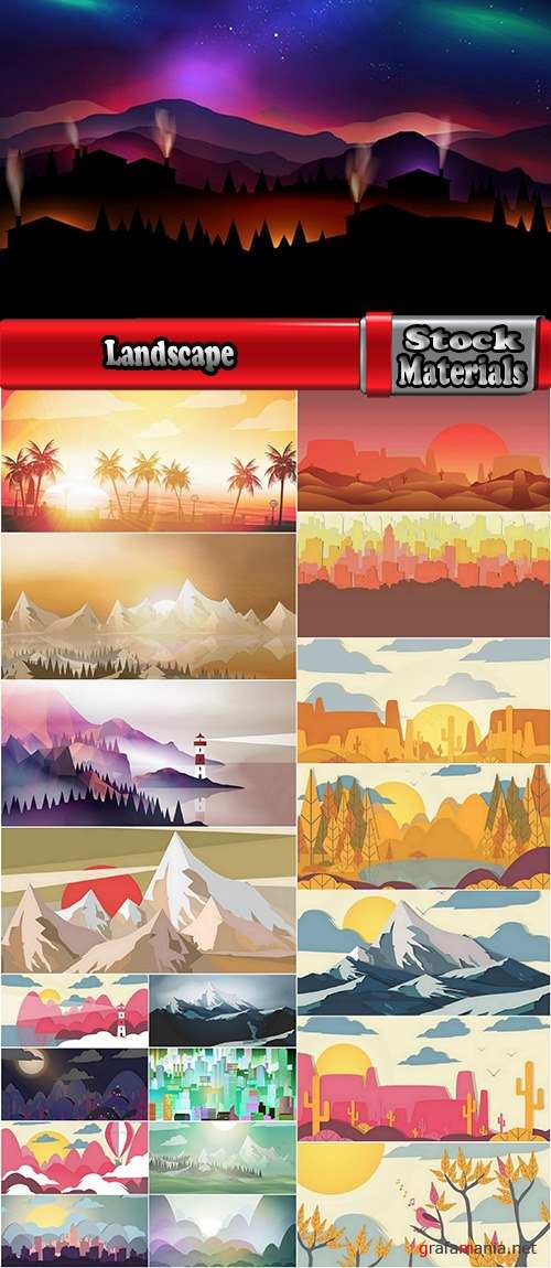 Landscape pattern nature abstract background background pattern 19 EPS