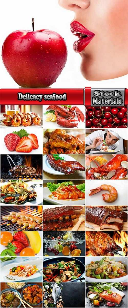 Delicacy seafood fried meat shrimp sweetness cherry sweet cherry strawberry burger 25 HQ Jpeg