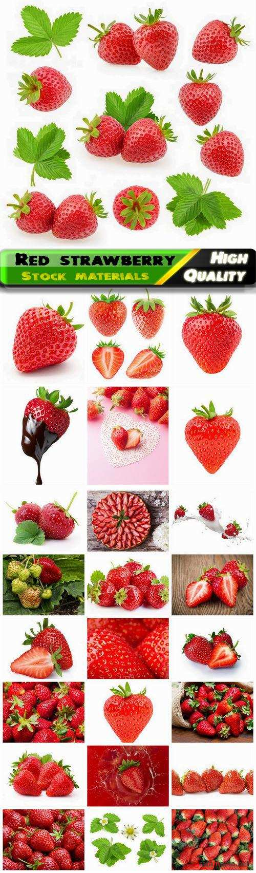 Red ripe strawberry healthy food and fruits with vitamins 25 HQ Jpg