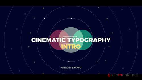 Cinematic Typography Intro - Project for After Effects (Videohive)