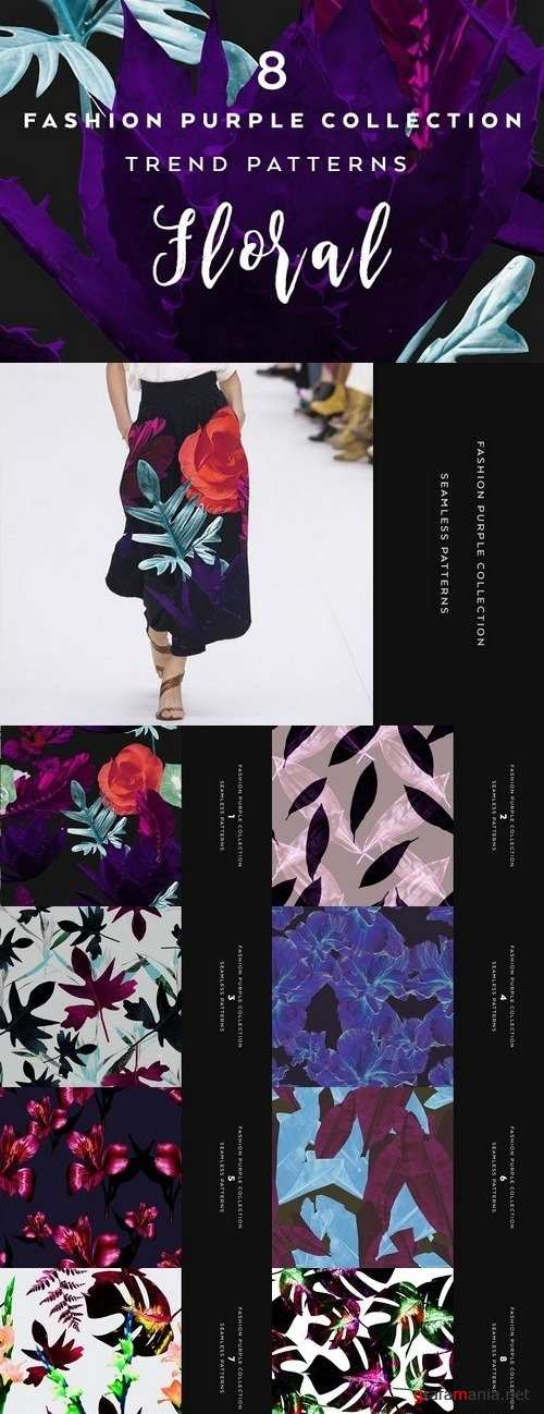 8 Seamless Floral Patterns 1294575