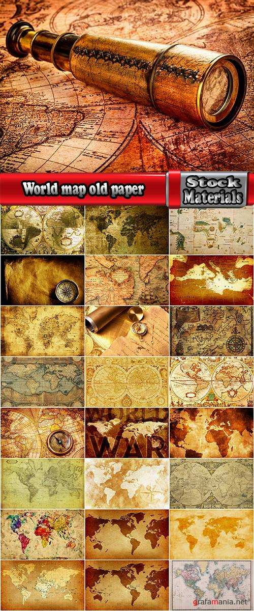 World map old paper continent country travel 25 HQ Jpeg