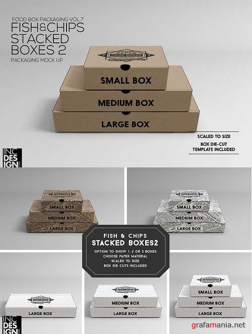 Fish & Chips Stacked Boxes MockUp 2
