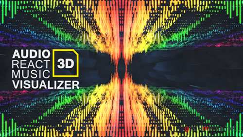 Audio React Music Visualizer 3D - Project for After Effects (Videohive)