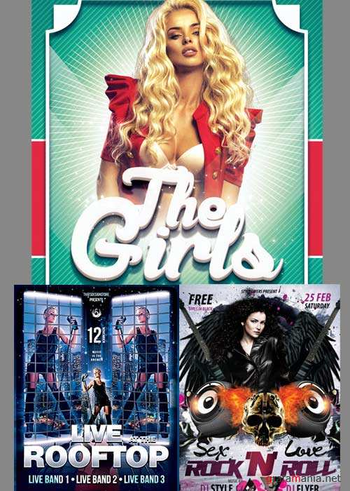 THE GIRLS PARTY 3in1 V5 Flyer Template
