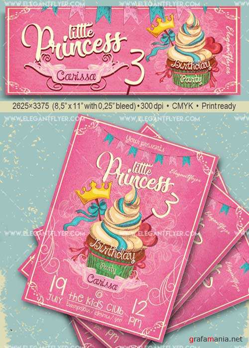 Birthday Party V25 Flyer PSD Template + Facebook Cover