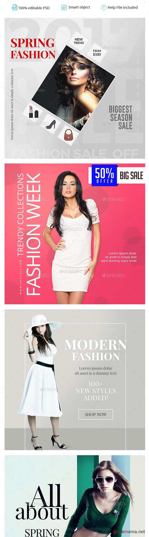 Fashion Instagram Templates - 4 Designs 20016656