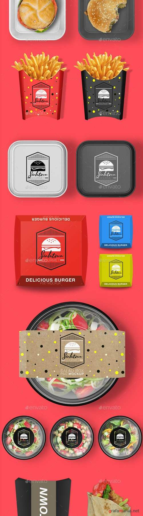 Fast Food Product Mockup Bundle 20038737