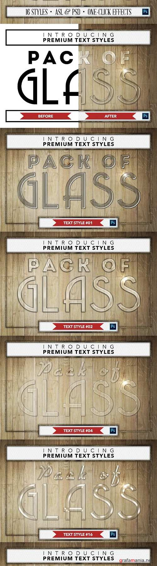 Glass #1 - 16 Text Styles - 1361571