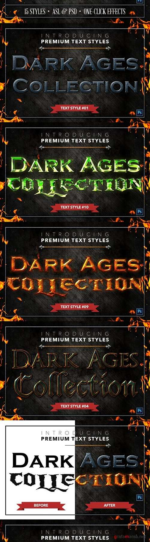 Dark Ages #1 - Text Styles - 1483964