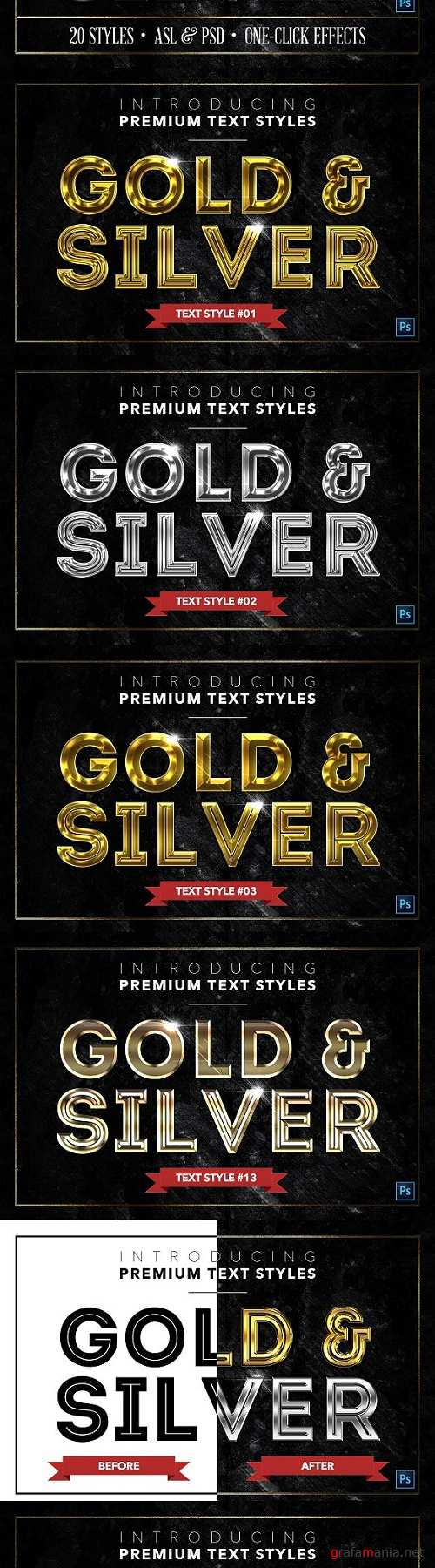 Gold & Silver #6 - 20 Text Styles - 1314556