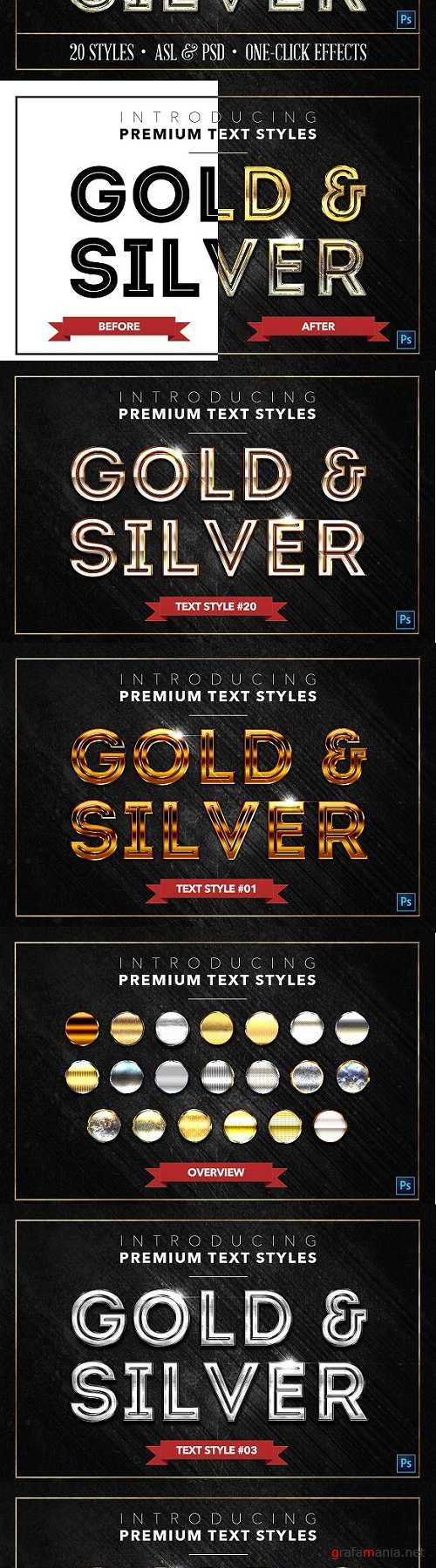 Gold & Silver #2 - 20 Text Styles - 1278366