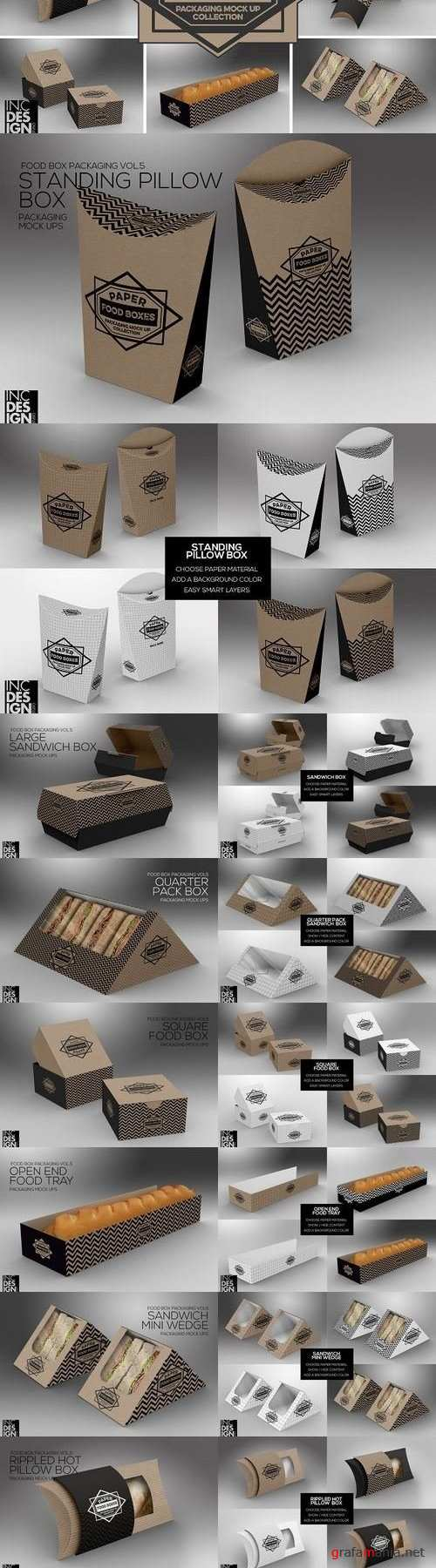 VOL.5: Food Box Packaging Mock Ups 1286576