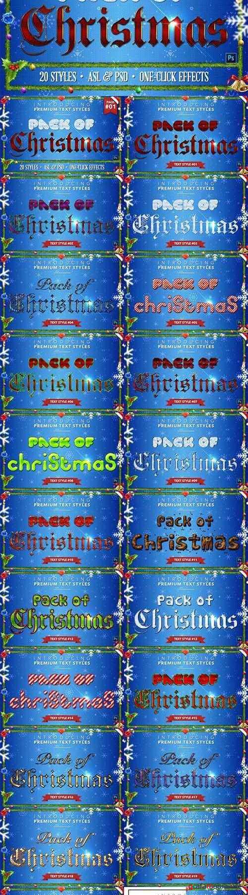 Christmas Pack #1 - Text Styles - 1559266
