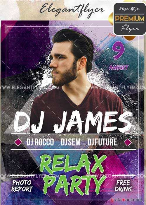 Relax Party V10 Flyer PSD Template + Facebook Cover